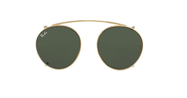 ffb6a2c897 Ray-Ban Round Fleck Clip-on Gold