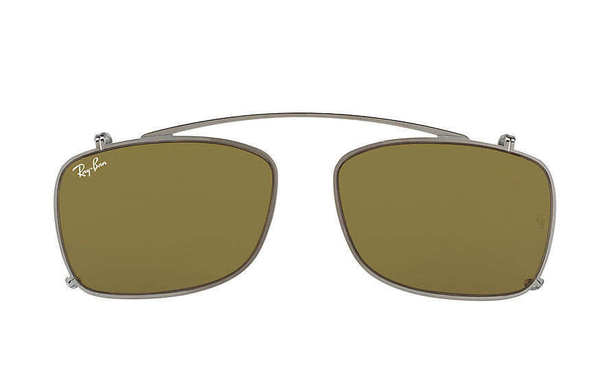 Ray-Ban RB5228 Clip-on Metaliczny with Brązowy Classic B-15 lens