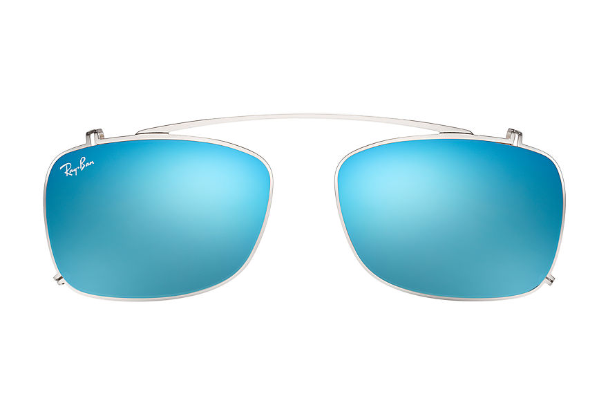 Ray-Ban RB5228 Clip-on Silver with Blue Gradient Flash lens