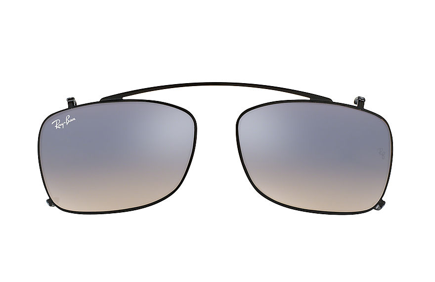 Ray-Ban RB5228 Clip-on Black with Silver Gradient Flash lens