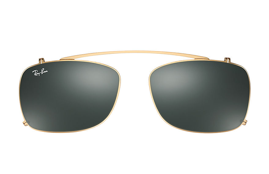 Ray-Ban RB5228 Clip-on Gold with Green Classic lens