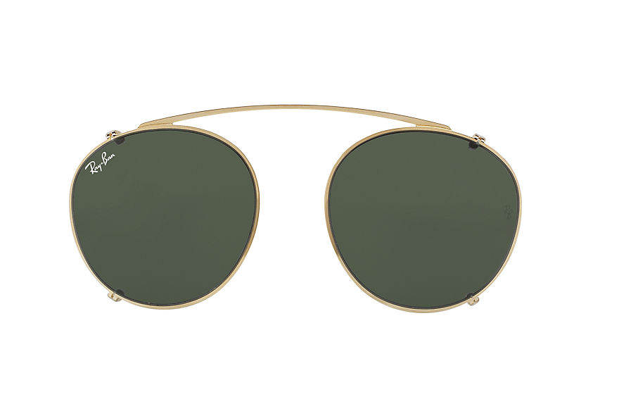 Ray-Ban RB2180 CLIP-ON Gold with Green Classic lens