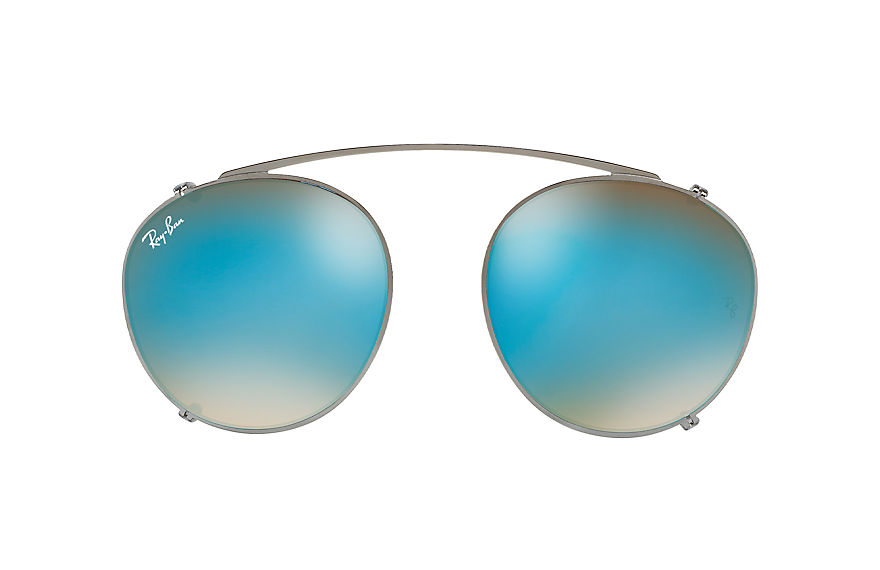 Ray-Ban RB2180 CLIP-ON Gunmetal with Blue Gradient Flash lens