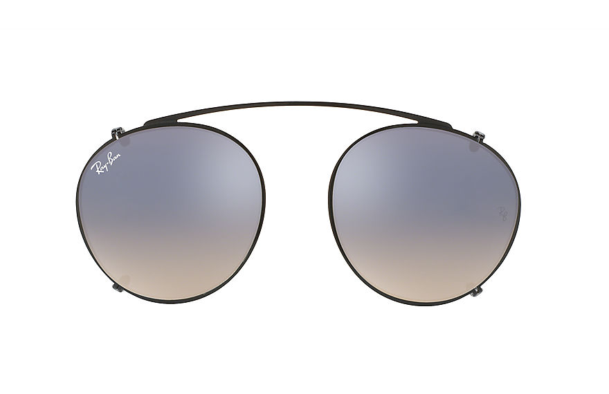 Ray-Ban RB2180 CLIP-ON Black with Silver Gradient Flash lens
