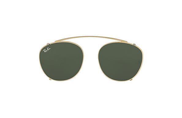 5c89450f672 See compatible Frames. Ray-Ban 0RX6355C-RB6355 CLIP-ON Gold CLIPON