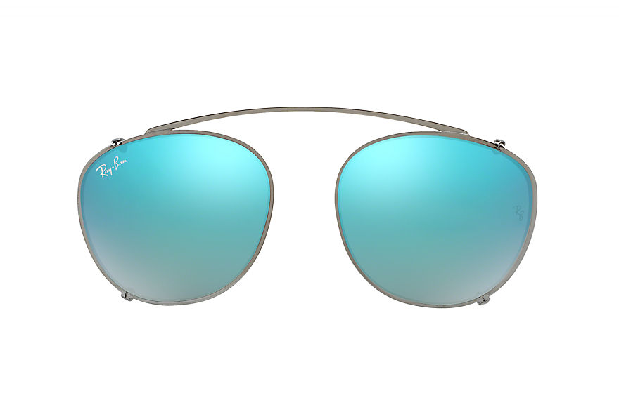 Ray-Ban RB6355 CLIP-ON Gunmetal with Blue Gradient Flash lens