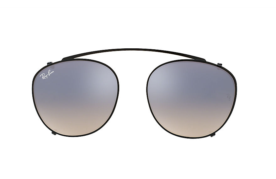 Ray-Ban Accessories RB6355 CLIP-ON Black with Silver Gradient Flash lens