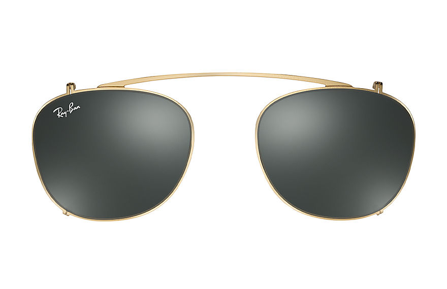 Ray-Ban Accessories RB6317 CLIP-ON Gold with Green Classic lens