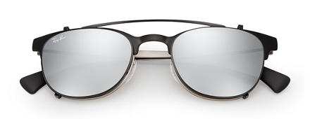 Ray-Ban RB6317 Clip-on Nero con lente Argento Gradient Flash