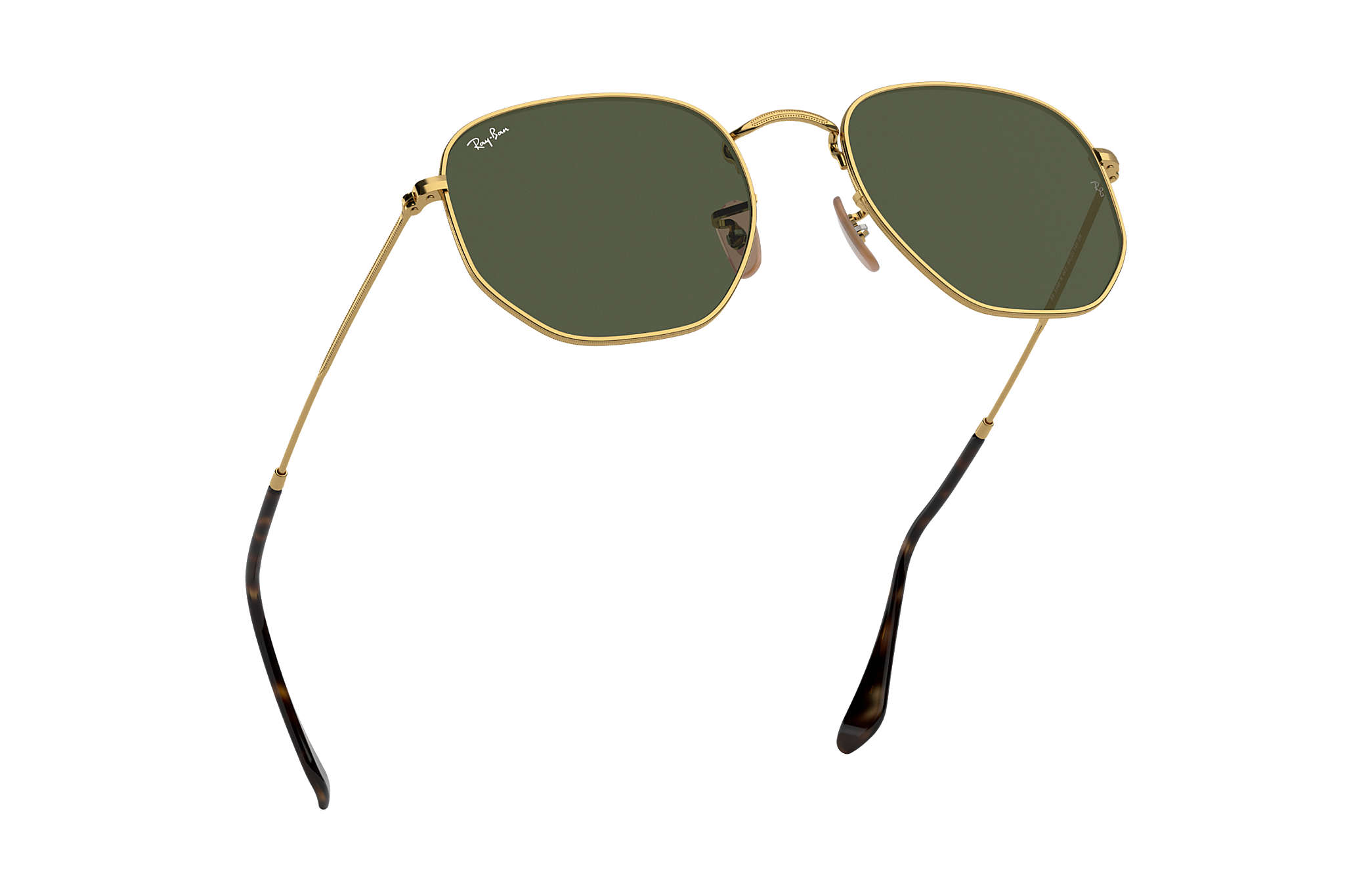 959f6b6b4f Ray-Ban Hexagonal Flat Lenses RB3548N Gold - Metal - Green Lenses ...