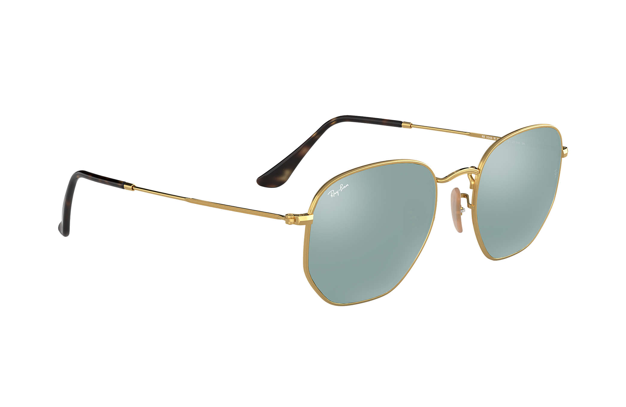 Ray-Ban Hexagonal Flat Lenses RB3548N Oro - Metal - Lentes Plata ...