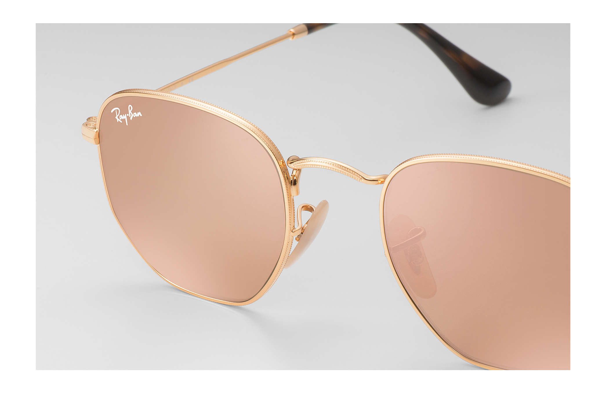 c3ad86aaacea8 Ray-Ban Hexagonal Flat Lenses RB3548N Gold - Metal - Copper Lenses ...