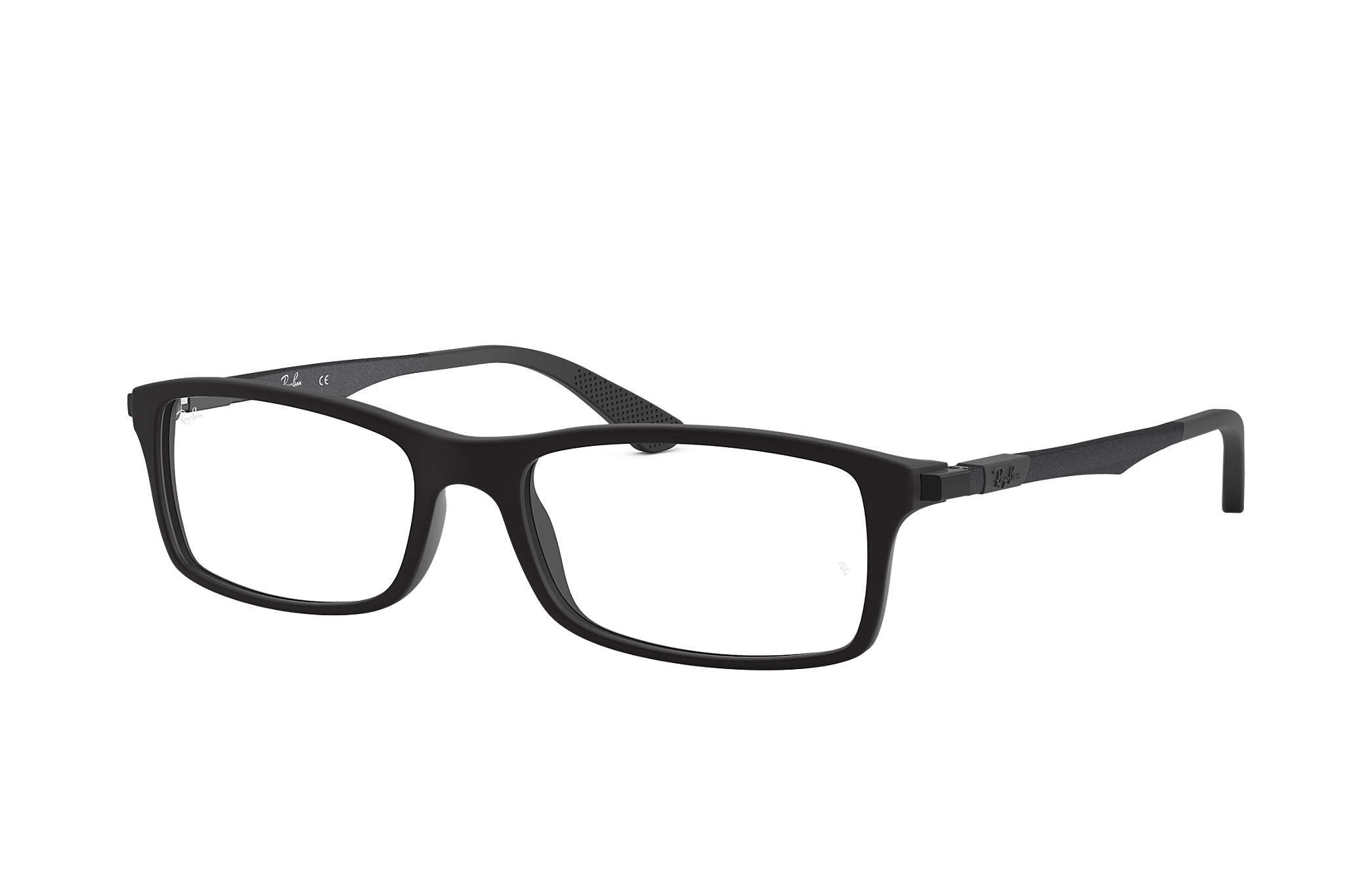 e3fd829d29f6b Ray-Ban prescription glasses RB7017 Black - Acetate - 0RX7017519652 ...