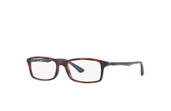 Ray-Ban 0RX7017-RB7017 Tortoise; Blue OPTICAL