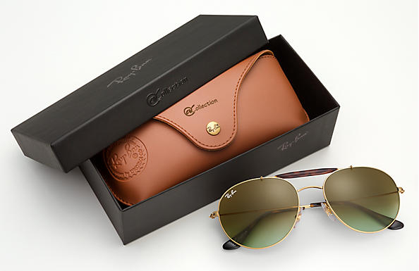 4eb8d1bf02 Ray-Ban Rb3540  collection RB3540 Guld - Metall - Grön linser ...