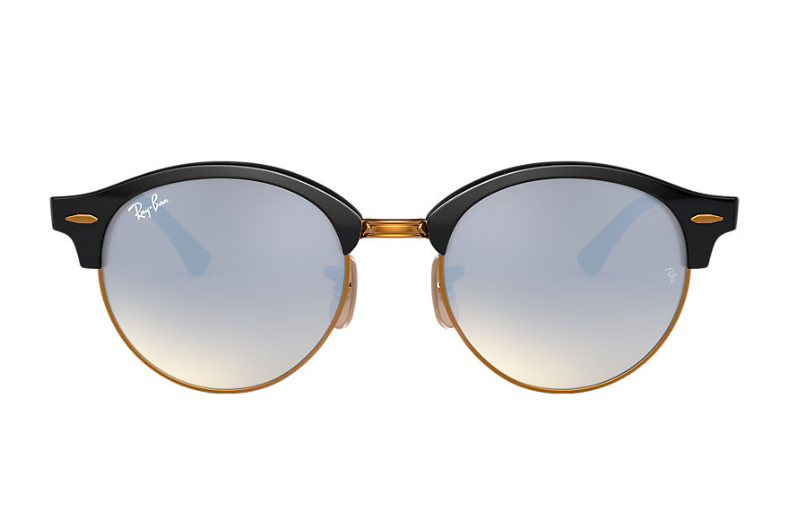 Ray-Ban		 CLUBROUND @COLLECTION Zwart met brillenglas Zilver Gradiënt Flash