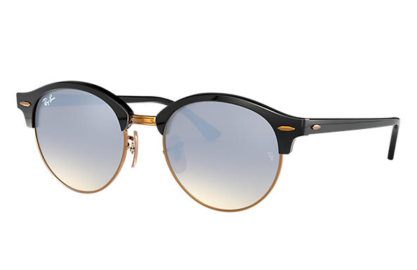 Ray-Ban CLUBROUND @COLLECTION Noir avec verres Argent Gradient Flash