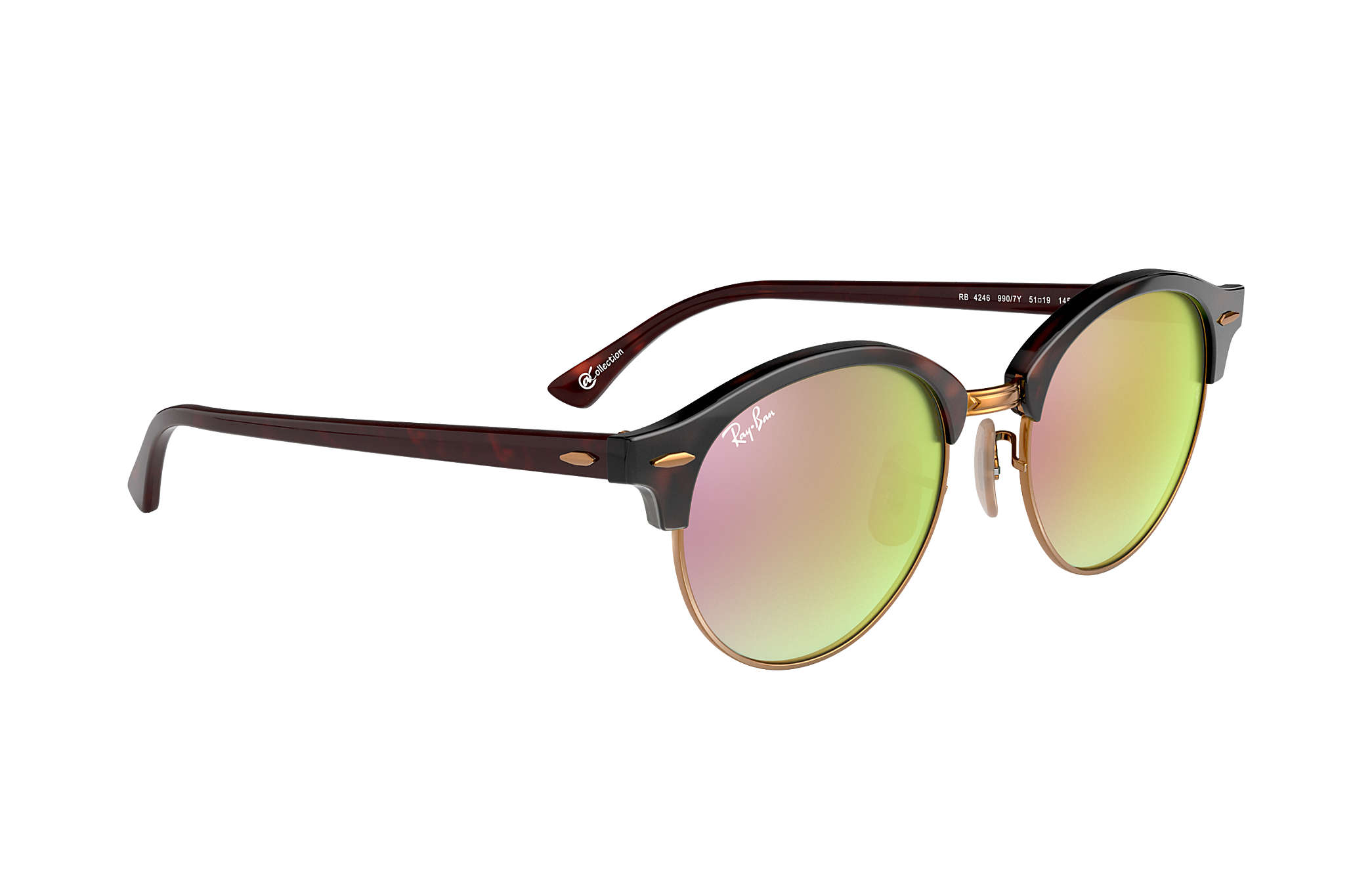 0201b00476 Ray-Ban Clubround  collection RB4246 Tortoise - Acetate - Copper ...