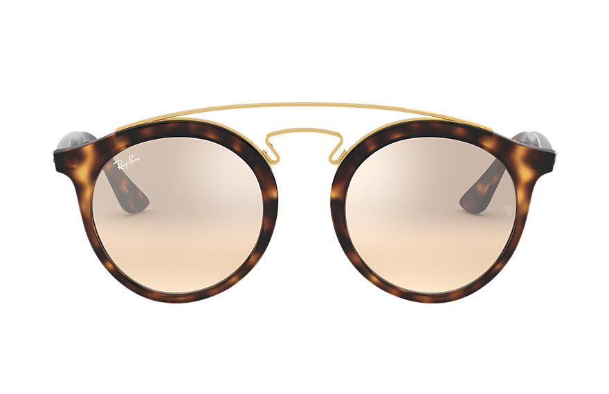 Ray-Ban Sunglasses RB4256 GATSBY I @COLLECTION Tortoise with Brown/Silver Gradient Mirror lens