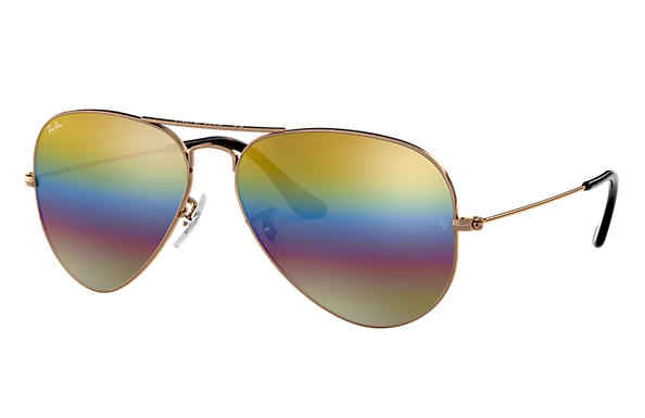 Ray-Ban 0RB3025-AVIATOR MINERAL FLASH LENSES Bronce-Cobre SUN