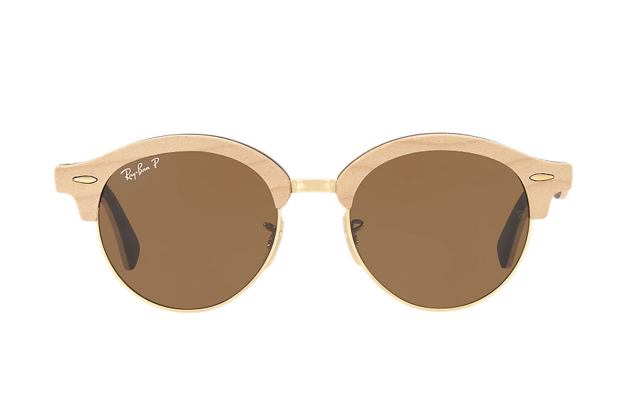 Ray-Ban  sunglasses RB4246M MALE 003 clubround wood bruin 8053672717549