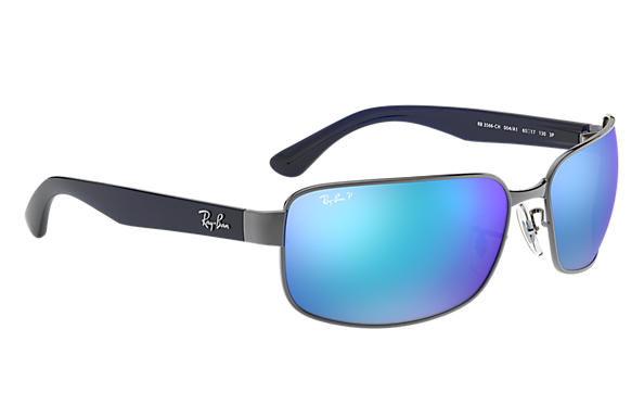 756cd81fd5 Ray-Ban Rb3566 Chromance RB3566CH Gunmetal - Metal - Blue Polarized ...