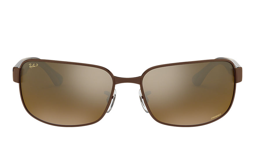 Ray-Ban  gafas de sol RB3566CH MALE 003 rb3566 chromance marrón 8053672726398