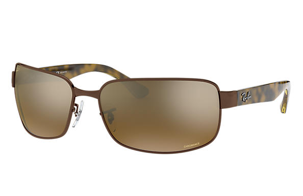 Ray-Ban 0RB3566CH-RB3566 CHROMANCE Brown; Tortoise SUN