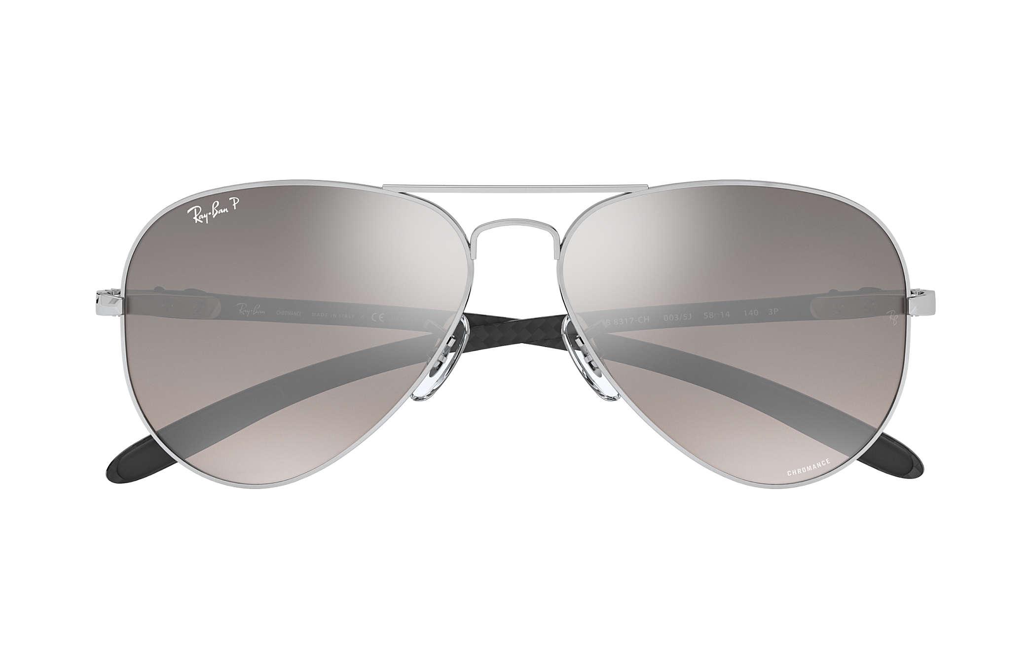 41531b789a Ray-Ban Rb8317 Chromance RB8317CH Silver - Metal - Silver Polarized ...