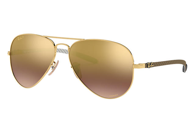 2b66b9961d7 Ray-Ban RB8317 CHROMANCE RB8317CH Gold - Metal - Purple ...
