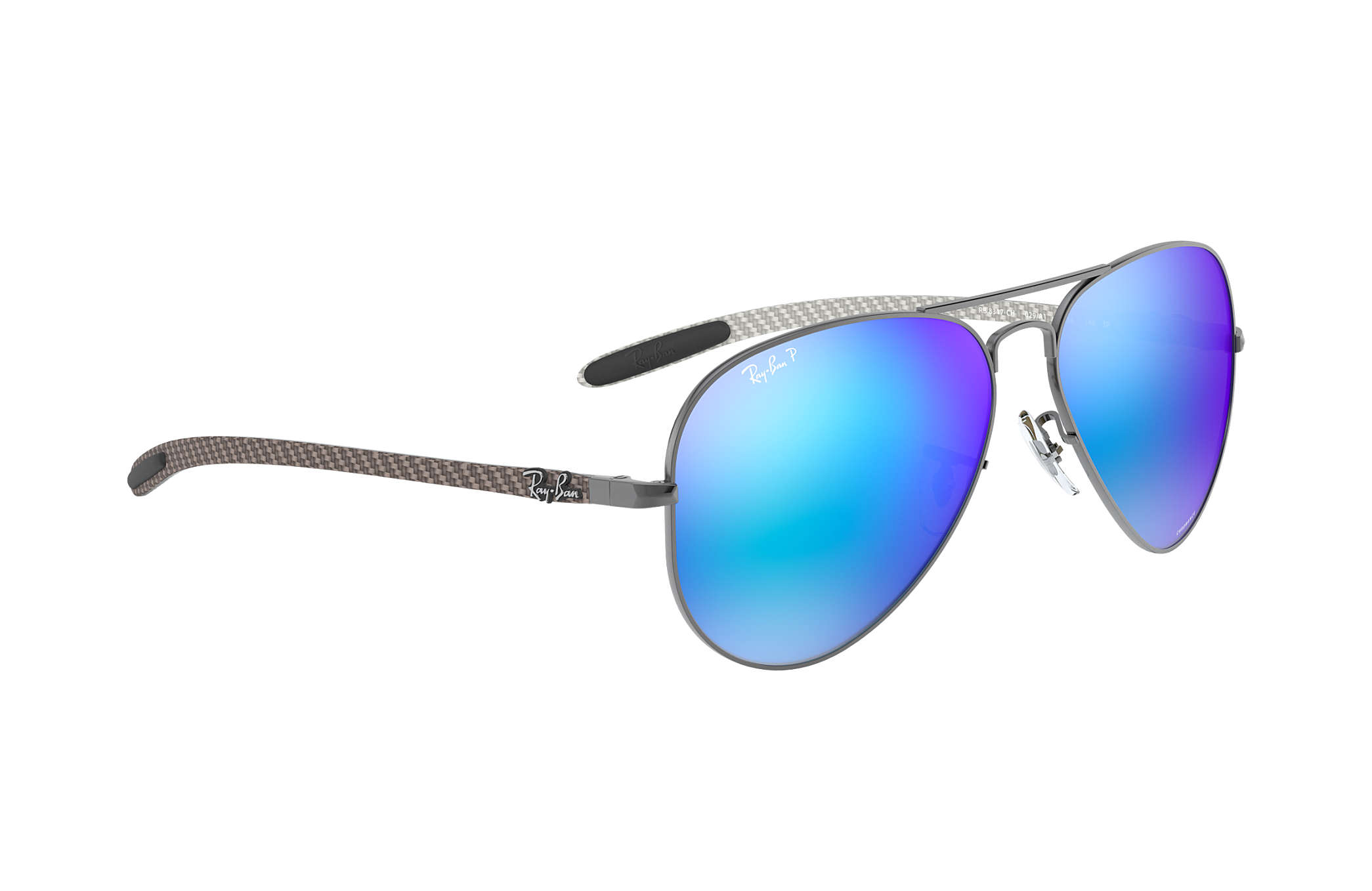 40144a2314e Ray-Ban Rb8317 Chromance RB8317CH Gunmetal - Metal - Blue Polarized ...