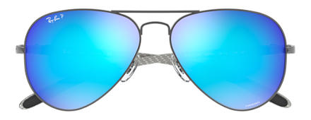 Ray-Ban RB8317 CHROMANCE Gunmetal with Blue Mirror Chromance lens