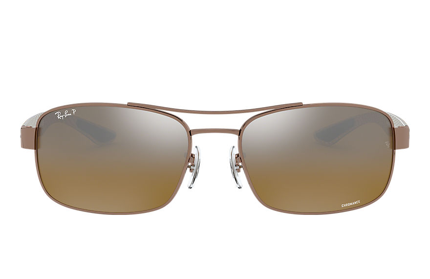 Ray-Ban  gafas de sol RB8318CH MALE 003 rb8318 chromance marrón claro 8053672726459