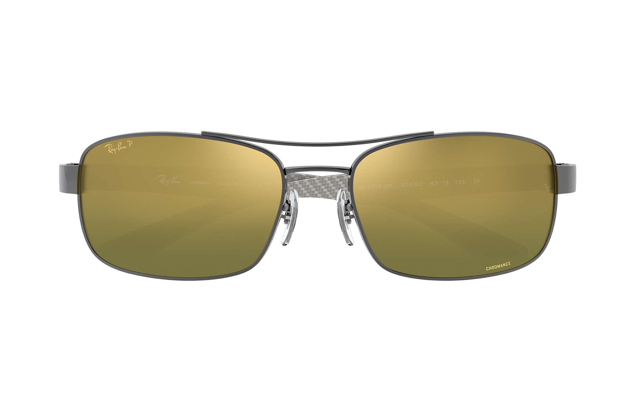 3c1ed1bf25 Ray-Ban Rb8318 Chromance RB8318CH Gunmetal - Metal - Green Polarized ...