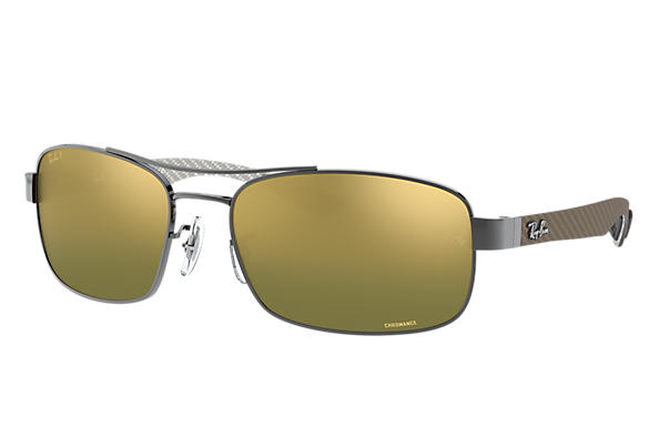 5a176adf60 Ray-Ban Rb8318 Chromance RB8318CH Gunmetal - Metal - Green Polarized ...