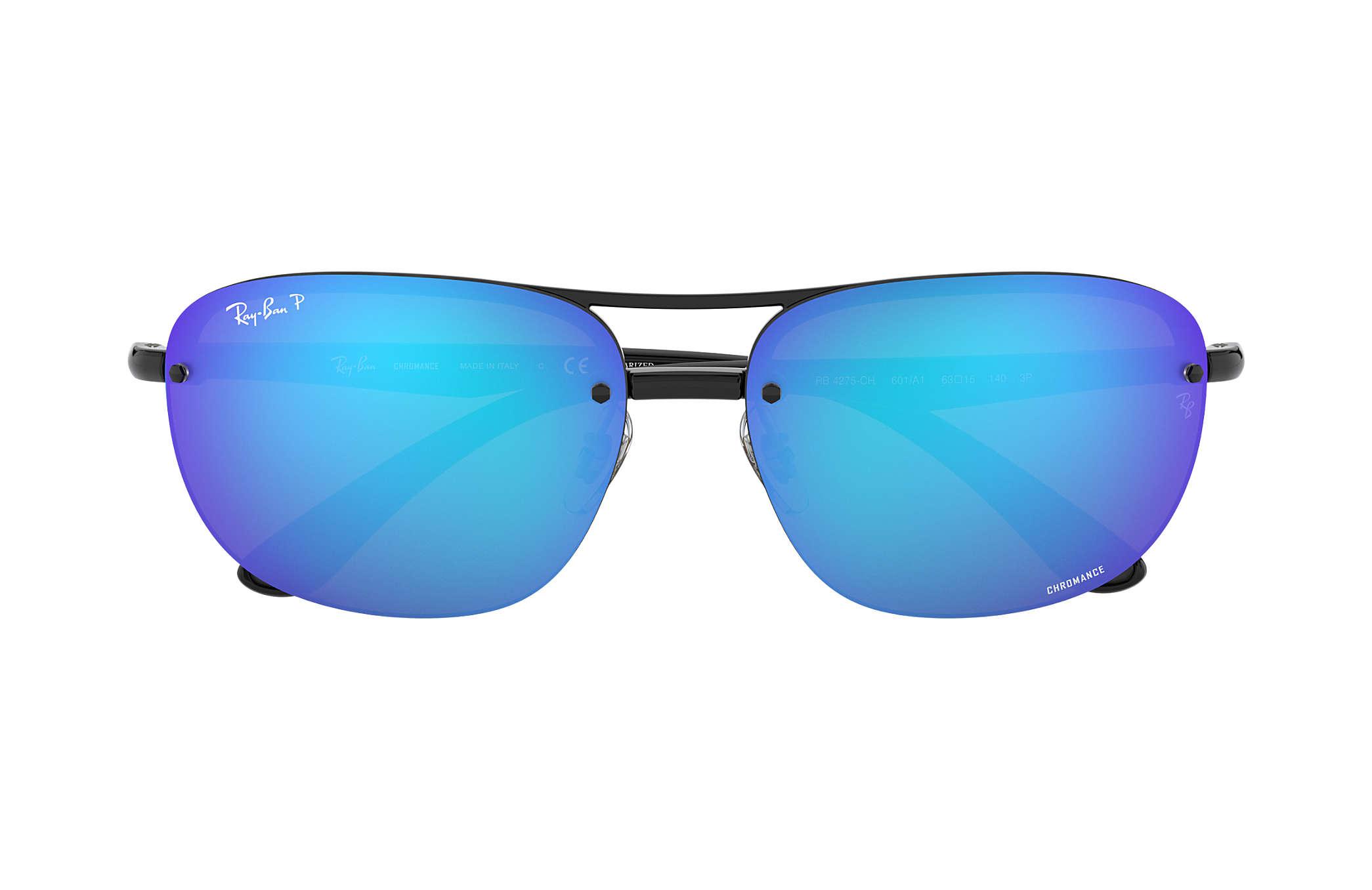 70293fed30 RayBan RB4275CH 601A1 Black FramePolarized Blue Mirror
