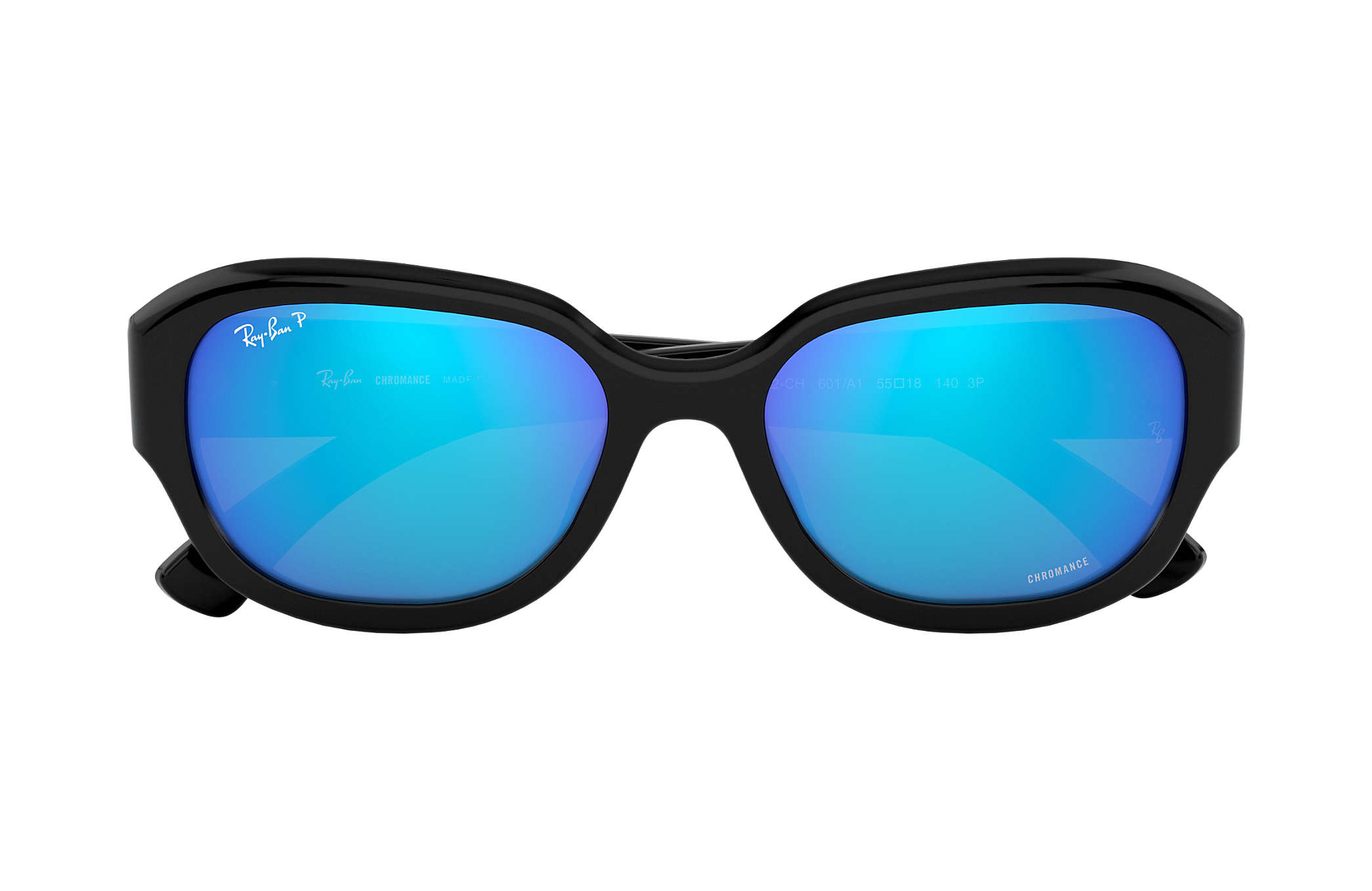 RAY BAN RAY-BAN Damen Sonnenbrille » RB4282CH«, schwarz, 601/A1 - schwarz/blau