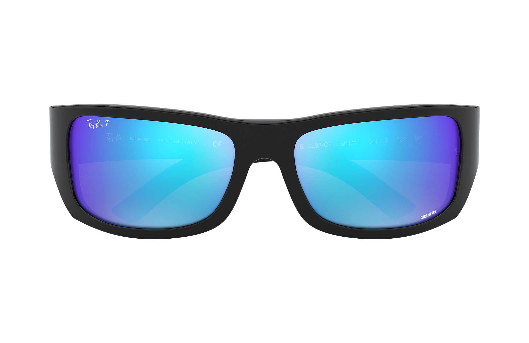 4909378165 Ray-Ban Rb4283 Chromance RB4283CH Black - Nylon - Blue Polarized ...