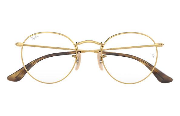 10454179cfd2d7 Ray-Ban eyeglasses Round Metal Optics RB3447V Gold - Metal ...