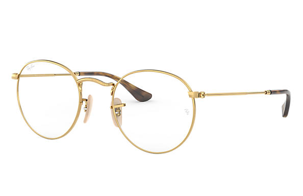 Ray-Ban 0RX3447V-ROUND METAL OPTICS Glänzendes Gold,Gold; Gold OPTICAL