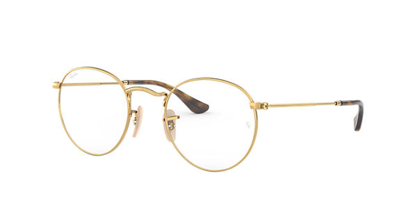1a8b56d117b700 Ray-Ban prescription glasses Round Metal Optics RB3447V Gold - Metal -  0RX3447V250050   Ray-Ban® USA