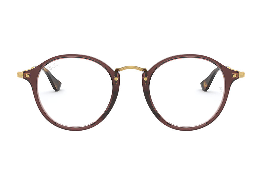 Ray-Ban  eyeglasses RX2447V MALE 001 round fleck brown 8053672727760