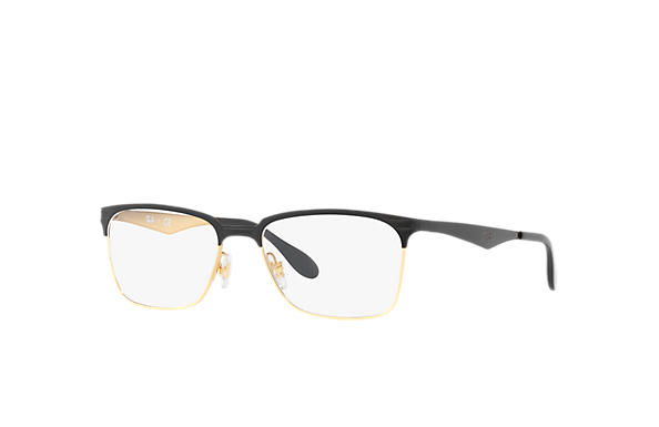 Ray-Ban 0RX6344-RB6344 Black,Gold OPTICAL