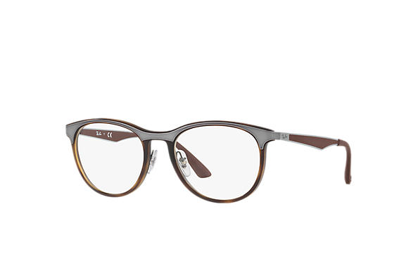 Ray-Ban 0RX7116-RB7116 Tortoise; Gunmetal,Brown OPTICAL