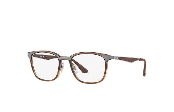 Ray-Ban 0RX7117-RB7117 Tortoise; Gunmetal,Brown OPTICAL