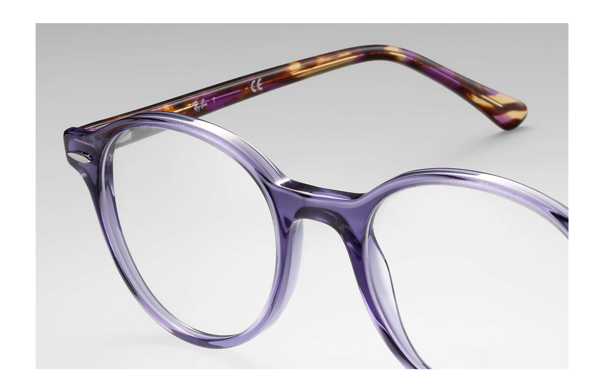 a195eb9b40b06 Ray-Ban prescription glasses Dean RB7118 Violet - Propionate ...