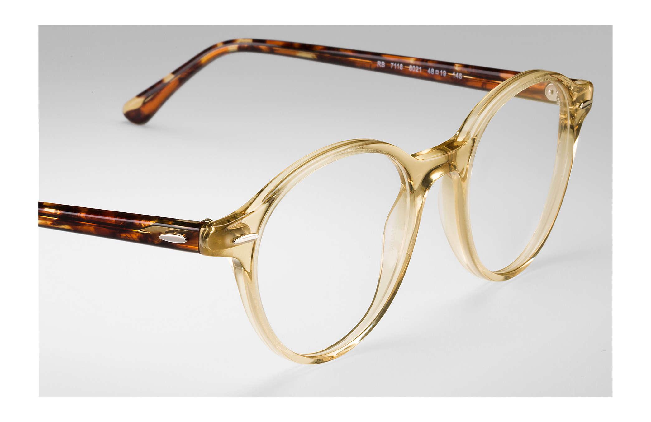 192c3948ad382 Ray-Ban prescription glasses Dean RB7118 Yellow - Propionate ...
