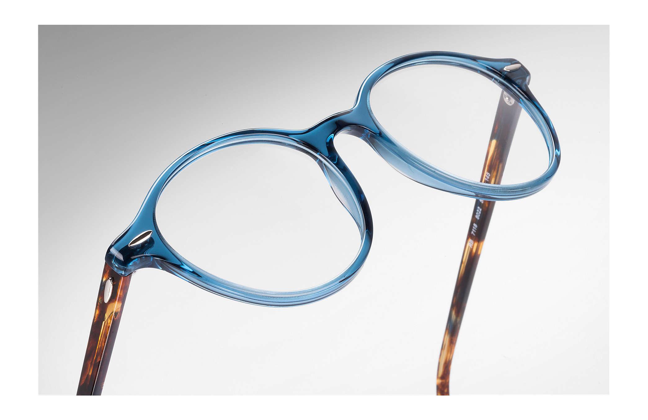 c77e8ea4d5384 Ray-Ban prescription glasses Dean RB7118 Blue - Propionate ...