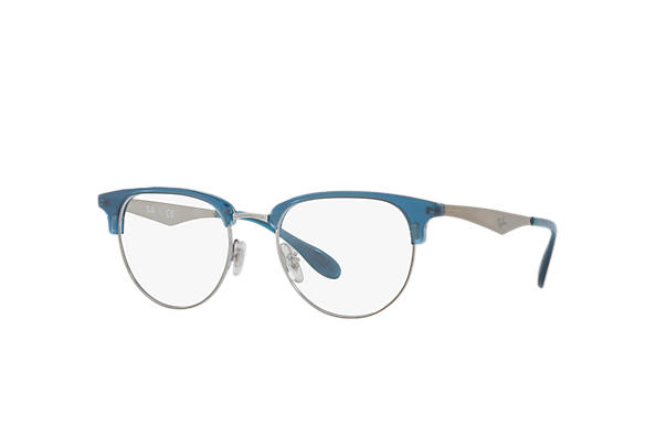 6eac74bed1 Ray-Ban prescription glasses RB6396 Blue - Metal - 0RX6396578551 ...