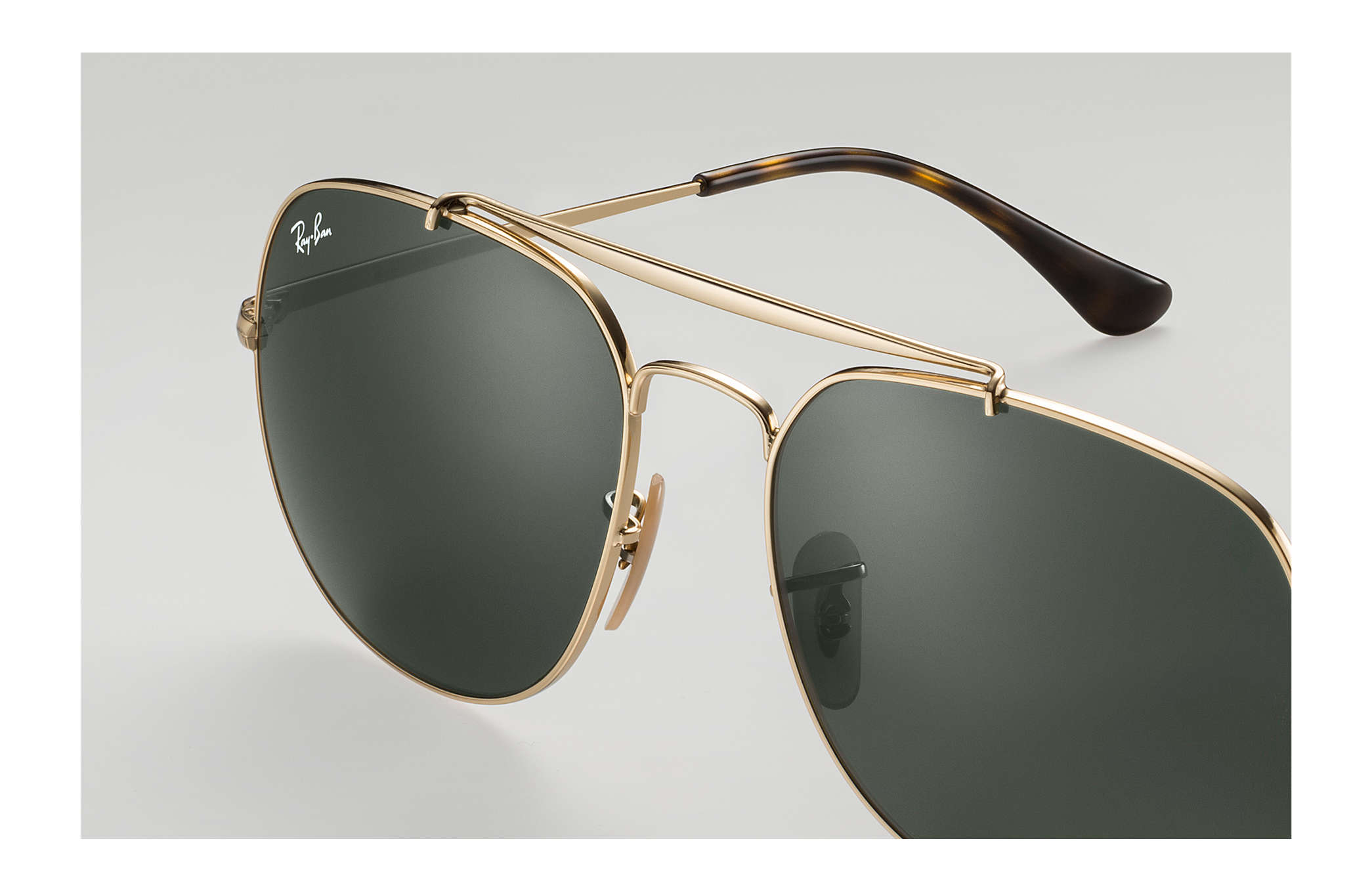 6fa122fa74be5 Ray-Ban General RB3561 Gold - Metal - Green Lenses - 0RB356100157 ...